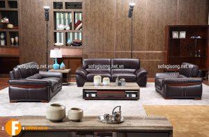 Ghế sofa chất liệu da nhập khẩu cao cấp