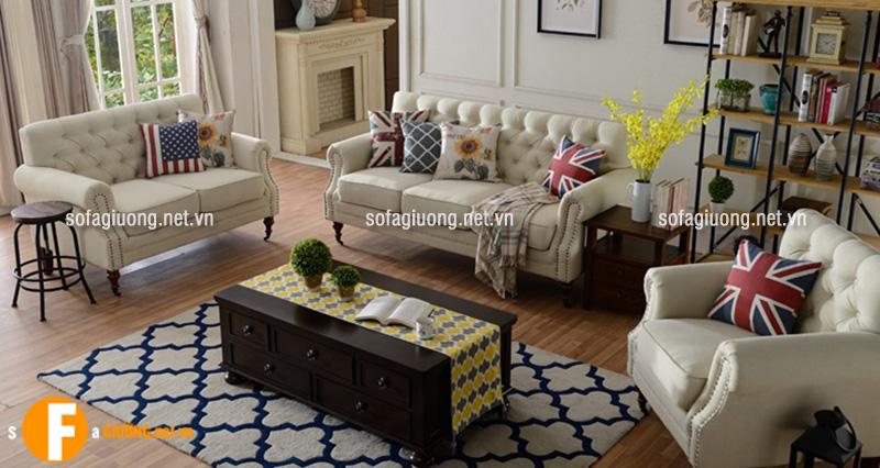 Ghế sofa tân cổ điển mang phong cách ngọt ngào và trẻ trung
