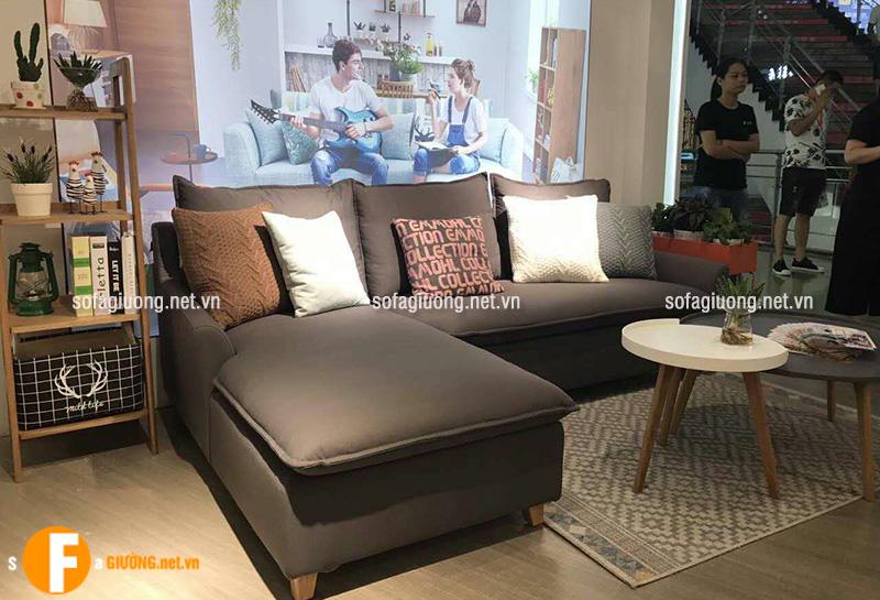Ghế sofa màu đen thiết kế đa năng có thể kéo dài thành chiếc giường