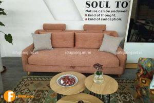 Ghế sofa văng đi cùng bàn trà tròn