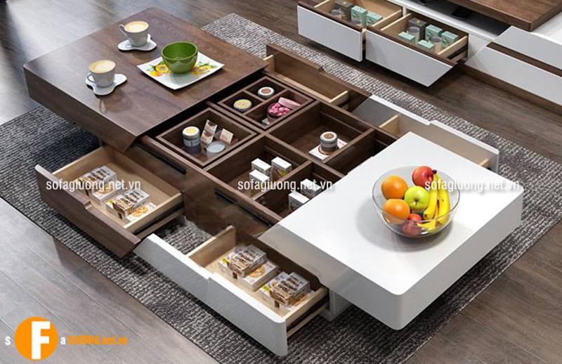 Bàn trà có thiết kế đa năng là đồ nội thất thông minh được ưa chuộng nhất hiện nay