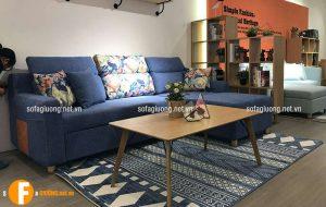 Màu sắc bàn trà sofa cần phải hợp với bộ sofa và mênh của chủ nhà