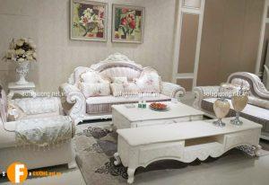 Ghế sofa nhập khẩu theo phong cách tân cổ điển Châu Âu sang trọng