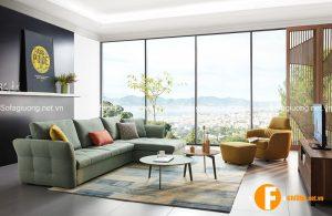 Sopha giường thông minh và bàn trà hiện đại phù hợp với phong cách của nhà chung cư
